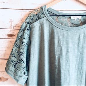 Umgee Cotton Top With Lace Back